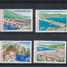 ROMANIA 1978  LP 951  HIDROCENTRALE  SERIE   MNH