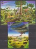 DB Rep.  Centrafricana Dinozauri  MS SS MNH, Nestampilat