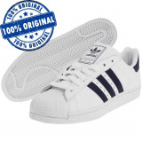 Pantofi sport Adidas Originals Superstar 2 pentru barbati - adidasi originali, 44 2/3, Alb, Piele naturala
