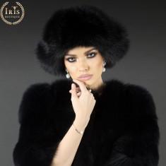 Caciula Husky - Negru