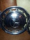 Capace roti vintage/retro pt Mercedes,capace inox Originale,set 4 buc.T.GRATUIT