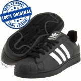 Pantofi sport Adidas Originals Superstar 2 pentru barbati - adidasi originali, 42, 43 1/3, 44 2/3, Negru, Piele naturala