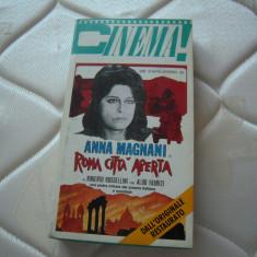 Caseta video originala provenienta Italia: ROMA CITTA APERTA (Anna Magnani) 1945, Italiana