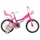 Bicicleta 146RN, 14 inch Roz, Dino Bikes