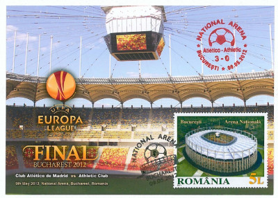 1016-a , FOOTBALL, Romania - Maximum card - 2012 foto