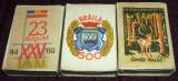 BRAILA 600, 23 August, Ocrotiti vanatul - 3 cutii chibrituri romanesti anii 60