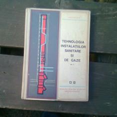 TEHNOLOGIA INSTALATIILOR SANITARE SI DE GAZE VOL.II