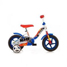 Bicicleta cu Maner pentru Parinti, 10 inch Albastru, Dino Bikes