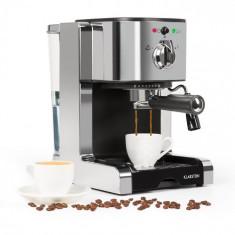 Klarstein PASSIONATA 20, aparat de cafea pentru producerea cafelei espresso, 20 bar, capuccino, spumă de lapte, culoare argintie