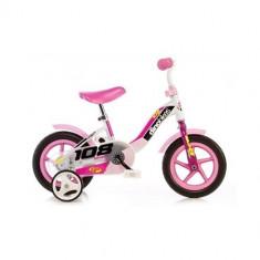 Bicicleta cu Maner pentru Parinti, 10 inch Roz