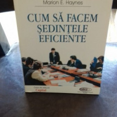CUM SA FACEM SEDINTELE EFICIENTE - MARION E. HAYNES