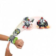 Ceas OMNITRIX lansator si 2 figurine de lupta - Cap de diamant + Ghiulea