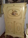 Comoda bar/secretaire SILIK,Italia,vintage,pictura manuala,H 155cm, Comode si bufete, Baroc, 1900 - 1949