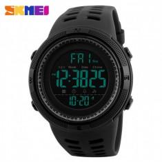 Ceas Sport SKMEI 1251 Countdown DUAL TIME WR50M Subacvatic alarma calendar CADOU, Lux - sport, Quartz, Cauciuc