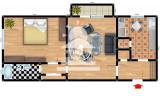 Apartament 2 camere de vanzare Bularga Baza III,40000 EUR, Etajul 4