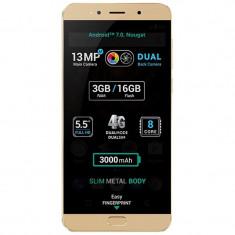 Telefon mobil X4 Soul LITE, Full HD 5.5, Dual Camera, 3GB RAM, 16GB, 4G, Gold