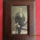 Arta fotografica, rama din lemn imbracata in piele naturala.Semnata/datata 1911