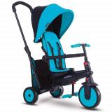 Tricicleta Pliabila 6 in 1 cu Tehnologie Touch Steering 300 Plus Albastru, Smart Trike
