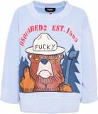 DSQUARED2 Multicolor Printed Sweatshirt SKY