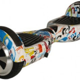 Scooter electric (hoverboard) Nova Vento HV6.5 Cartoon Art, Viteza maxima 10 Km/h, Autonomie 20 Km (Multicolor)