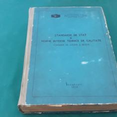 STANDARDE DE STAT ȘI NORME INTERNE TEHNICE DE CALITATE CONSERVE LEGUME /1975