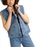 Wrangler Retro Vest Kabel Women's Denim Jacket In Blue Kabel Blue