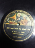 DISC antic,PLACA de GRAMOFON,PATEFON,S.JULIAN,Comic fara acompaniament,T.GRATUIT, Alte tipuri suport muzica, Columbia