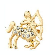 Broşă Zodiac Sagetator - NOU, Sigilat