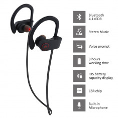 Casti bluetooth wireless cu microfon stereo sport U8 Super Bass, Casti Over Ear, Active Noise Cancelling