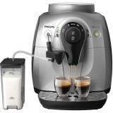 Espressor automat HD8652/59, 1 l, 1400 W, carafa cu sistem spumare automata a laptelui, rasnite ceramice, 15 bar, argintiu, Philips