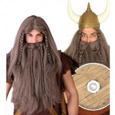 Peruca si Barba Viking - Carnaval24