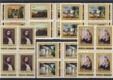 ROMANIA 1981  LP 1038  REPRODUCERI DE ARTA  TH. AMAN   BLOCURI DE 4 TIMBRE   MNH, Nestampilat