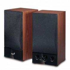Sistem audio 2.0 Genius SP-HF1250B Hi-Fi cherry wood