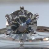 Inel 14k cu diamant 1ct