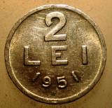 1.025 ROMANIA RPR 2 LEI 1951, Aluminiu
