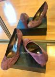 Pantofi Musette marimea 40, Violet, Cu toc