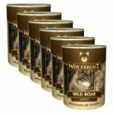Conservă WOLFSBLUT Wild Boar, 6 x 395 g