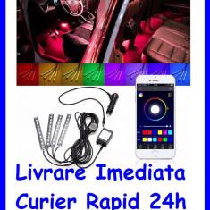 Kit Complet interior LED SMD RGB 12.5cm si aplicatie Bluetooth AL-090718-4