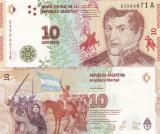 Argentina 10  Pesos  2015 UNC