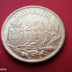 ROMANIA 25000 Lei 1946 XF Argint