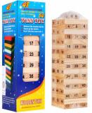 Joc Jenga din lemn cu numere