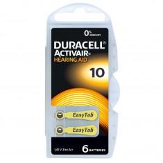 Baterie Auditiva DURACELL DA10 ActivAir Zinc-Aer 6 buc