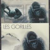 DB Burundi Fauna Gorila MS + SS  MNH, Nestampilat