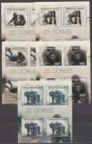 DB Burundi Fauna Gorila 5 MS  MNH, Nestampilat