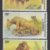 DB Congo Fauna Lei 5v MNH, Nestampilat