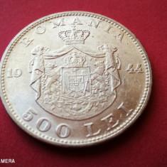 ROMANIA 500 lei 1944 UNC Luciu de batere Argint