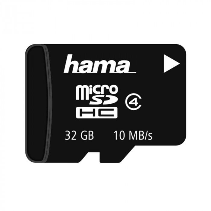 Card memorie micro SDHC Hama, Clasa 4, 32 GB