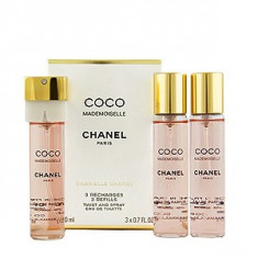 Chanel Coco Mademoiselle EDT Parfum de buzunar rezerva 3x20 ml pentru femei, Apa de toaleta, 20 ml