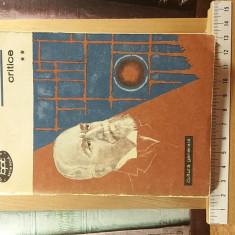 """Titu Maiorescu - Critice Vol. II """"A5967"""""""