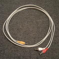 Cablu audio jack rca 2,10 m center, subwoofer